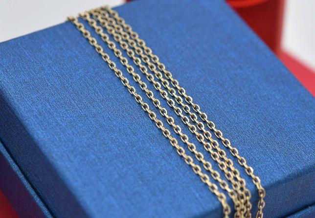 Złoty łańcuszek, długi 75 cm, splot ankier, p. 585
