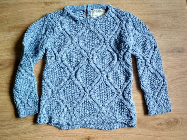 Sweter niebieski Zara Girl's 4-5 lat
