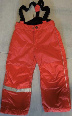 Dziecięce spodnie narciarskie H&M, różowe, rozmiar 110 Szczecin