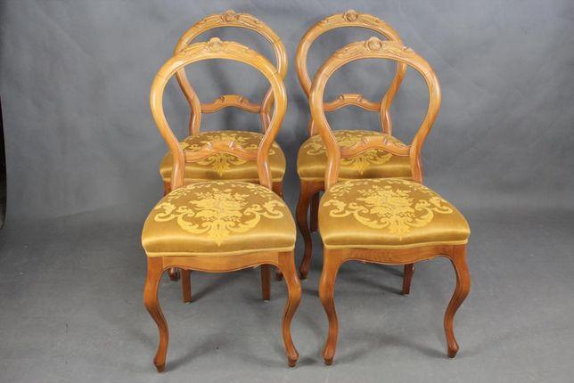 Zestaw 4 krzesła krzesło Ludwik do renowacji