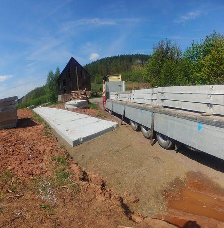 betonowe płyty drogowe - żelbetowe 300x150x18