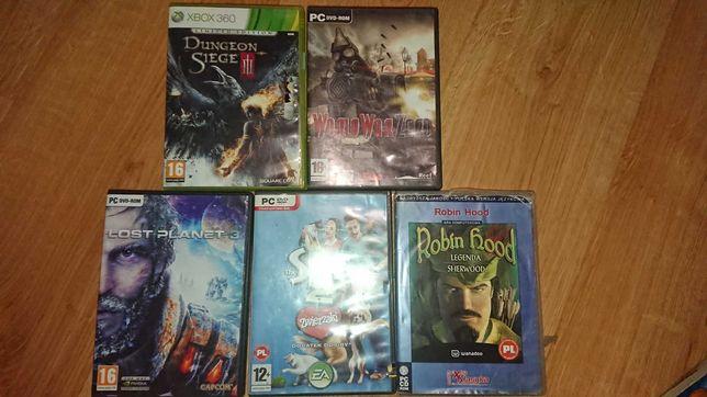 Gry na DVD / XBOX , sims 2 , world war zero, robin hood