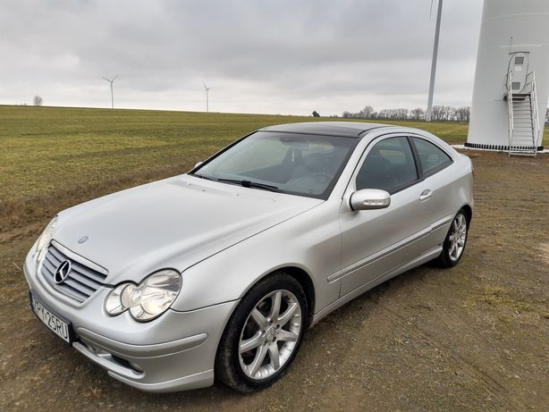 Mercedes W203 sport coupe bogate wyposażenie