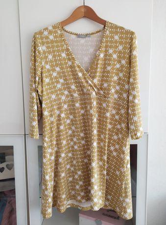 Bluzka ciążowa i do karmienia XL tunika Lindex 42 ubrania musztardowa