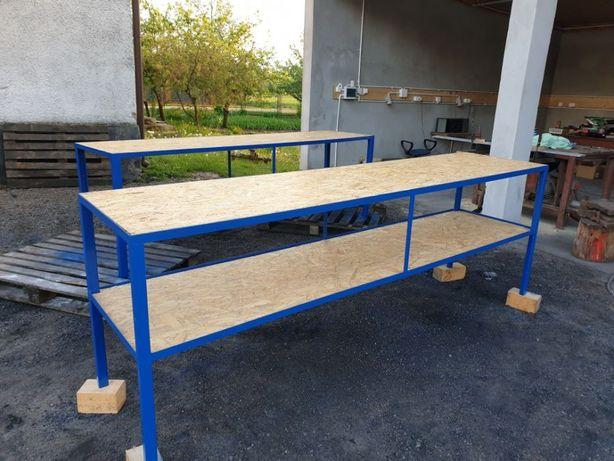 Stół warsztatowy garażowy spawalniczy stol roboczy regal ROZNE WYMIARY