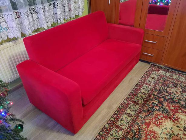 Pluszowa kanapa rozkladana z funkcją spania