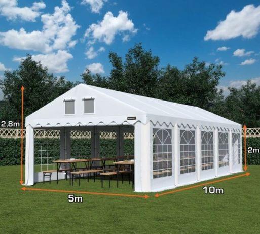 PLANDEKA! 5x10m Namiot Imprezowy Ogrodowy Komunia Handlowy WYPRZEDAŻ