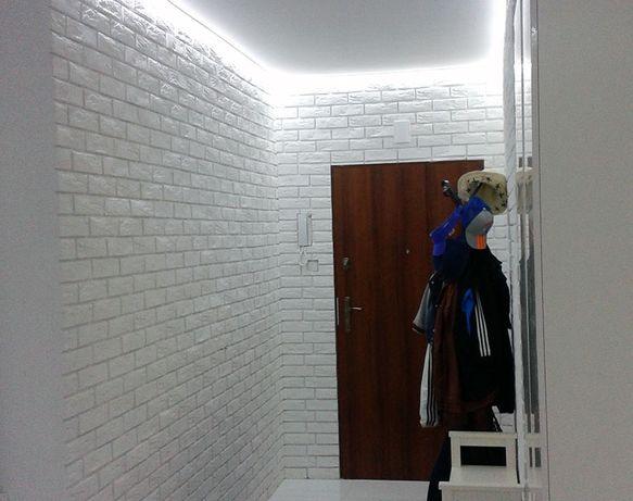 Cegła dekoracyjna z fugą Biała Cegiełka Gipsowa Kamień dekoracyjny