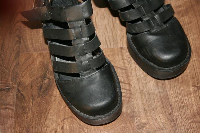 New Look 38 czarne trzewiki buty