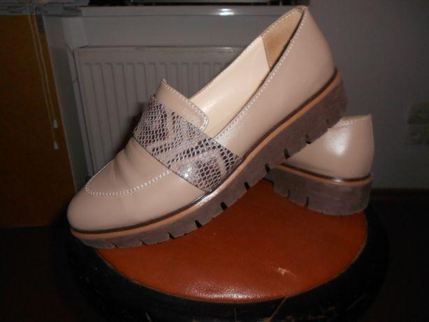 Женские туфли лоферы натуральная кожа 40-41р