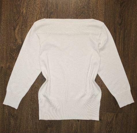Новый натуральный молочный свитер пуловер джемпер кофта 46 - 48 размер