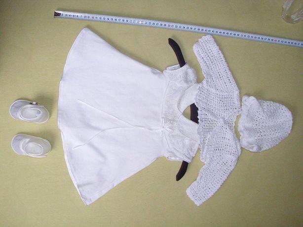 Ubranko do chrztu dla dziewczynki - komplet stan bdb