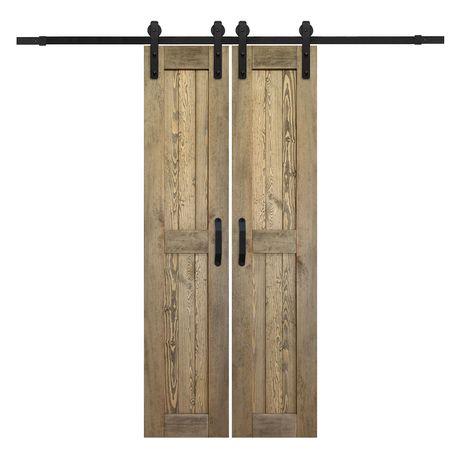 Drzwi Przesuwne Drewniane Dwuskrzydłowe Podwójne + System