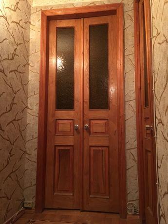 Дверь межкомнатная (сосна, сосновая) двустворчатая (под стекло)