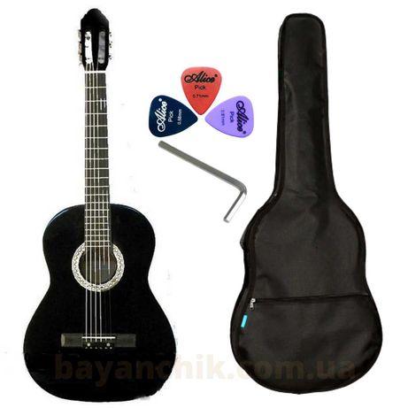 Набор гитара BANDES 851 ВК нейлон струны +чехол +ПОДАРОК