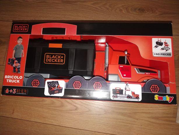 Smoby Ciężarówka z Dźwigiem 3w1 Black+Decker Dla Dzieci Narzędzia 60e