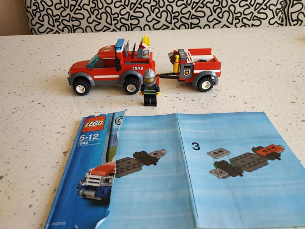Лего Lego city 7942 пожарная машина оригинал