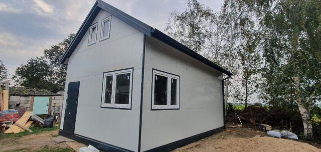 Najcieplejszy dom z poddaszem 35m2 bez pozwolenia Krótkie terminy
