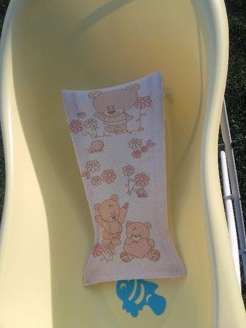 Zestaw do kąpieli niemowlaka: wanienka i leżaczek