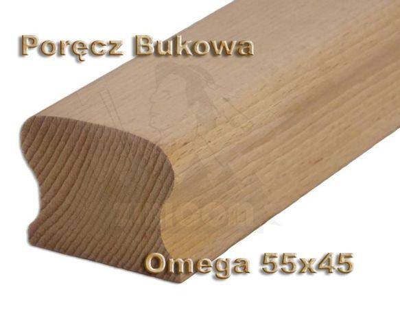 Poręcz Bukowa Omega 55x45 Pochwyt Poręcze Buk Balustrada
