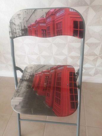 Cadeiras retratio conforama de alumínio.