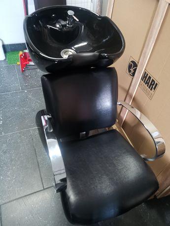 Rampa de lavagem de cabeleireiro