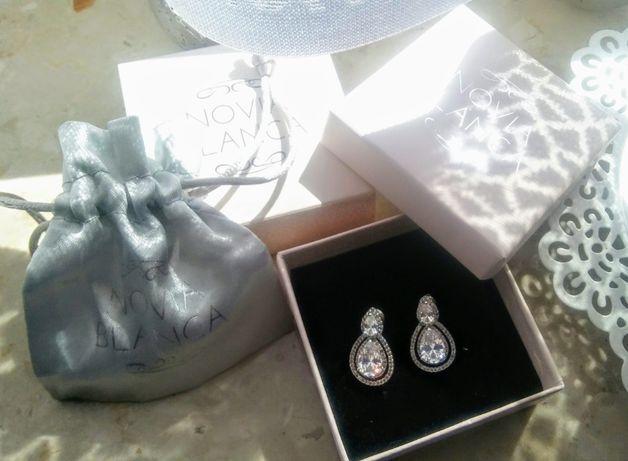 Kolczyki NOVIA BLANCA srebrne