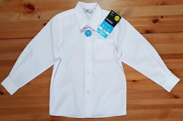 Новая белая рубашка в школу для мальчика 7 лет