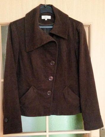 żakiet kurtka roz 40/42 jak nowy M&S bawełna brązowy