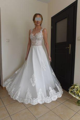 Suknia ślubna Enrica 2019 Julia Gastoł 36/28, plus welon i szal