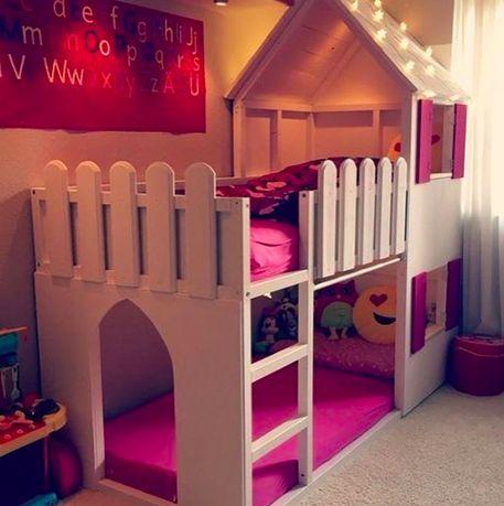 Детская кровать, кроватка-домик, кроватка для девочки