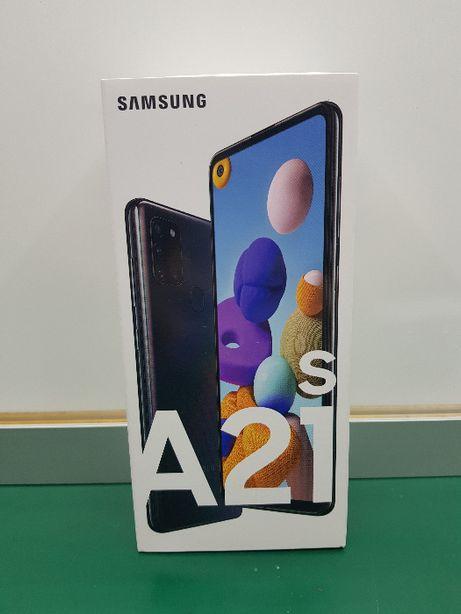 Telefon Samsung A21S zaplombowany GW czarny