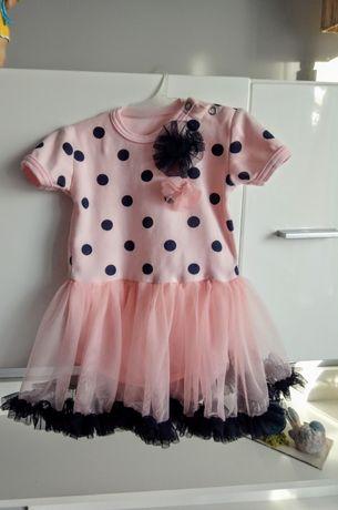 Sukienka na roczek lub inna okazję r.80