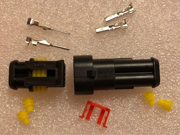 Герметичная влагозащишеная клемма разъём 2 контакта для авто