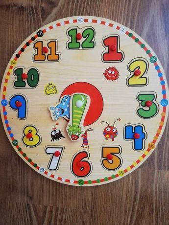 Zabawka drewniana zegar