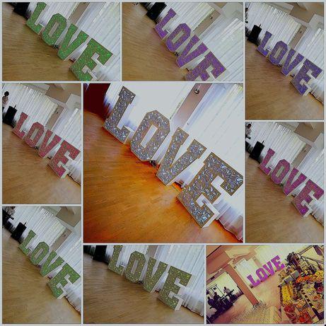 Napis LOVE ażurowy napis LOVE