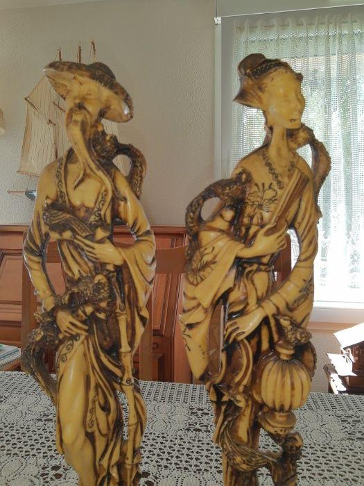 Figury mandaryn i gejsza wys. 46cm. (S.171) Gołańcz - image 1