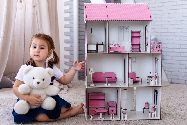 Нереальный кукольный домик для лол,дом для кукол lol МЕБЕЛЬ В ПОДАРОК