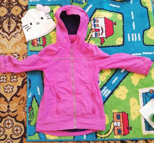 Kurtka płaszczyk wiosenny wiosenna czapka Hello Kitty H&M 116 5-6lat
