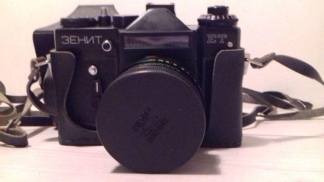 Aparat fotograficzny Zenit ET + lampa błyskowa