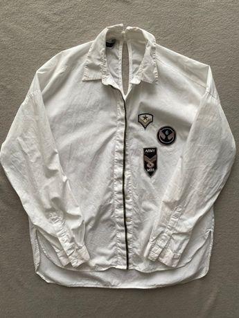 Biała koszula zara militarna