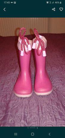 Kaloszki dla dziewczynki roz. 22, 15 cm.