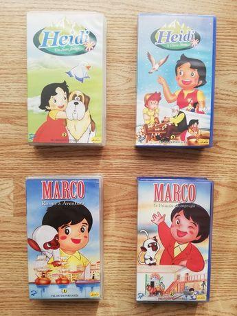 Cassetes VHS Heidi e Marco
