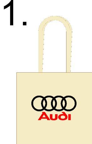Torba bawełniana z nadrukiem logo Audi