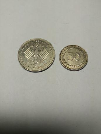 Монеты Германии 5,10,50 пфеннигов