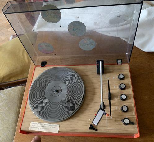 Zestaw gramofon,plyty winylowe, glosniki