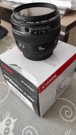 Canon EF 50mm f/1.4 USM zamiana