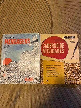 Mensagens 10º ano Português - Manual + Caderno de Atividades