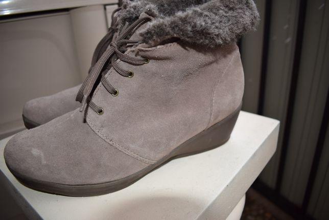 зимние ботинки деми р.40 р.6 1/2 26 см уги угги ботильоны замш+мех