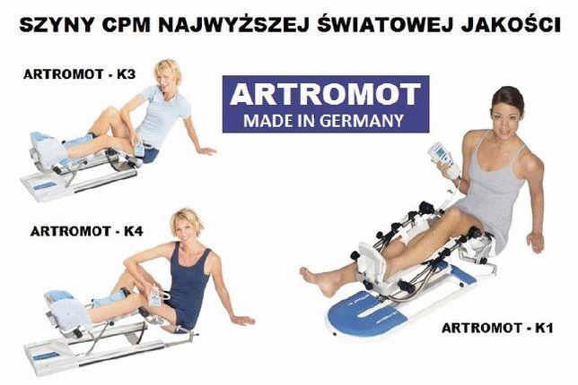 Szyny do rehabilitacyji CPM ARTROMOT wynajem Mielec